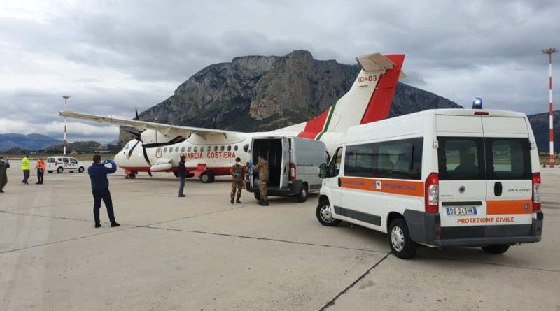 Coronavirus: dispositivi di protezione individuale arrivati in Sicilia
